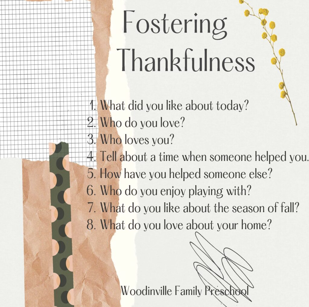 Fostering Thankfulness